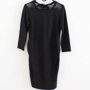 BNWT Black Maternity Dress with Lace
